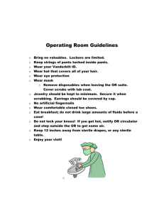 Operating Room Guidelines