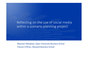 Maureen Meadows, Open University Business School Frances O'Brien, Warwick Business School