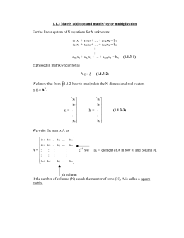 1.1.3 Matrix addition and matrix/vector multiplication  a