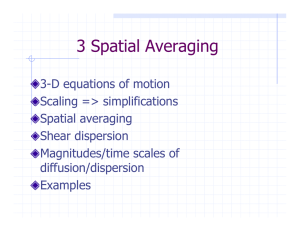3 Spatial Averaging