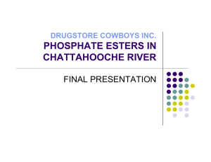 PHOSPHATE ESTERS IN CHATTAHOOCHE RIVER FINAL PRESENTATION DRUGSTORE COWBOYS INC.