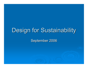 Design for Sustainability September 2006