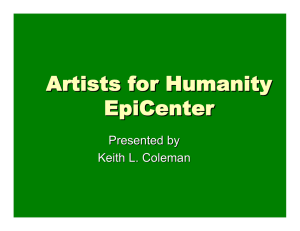 Artists for Humanity EpiCenter Presented by Keith L. Coleman