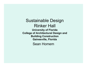Sustainable Design Rinker Hall Sean Homem University of Florida