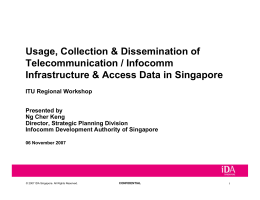 Usage, Collection & Dissemination of Telecommunication / Infocomm