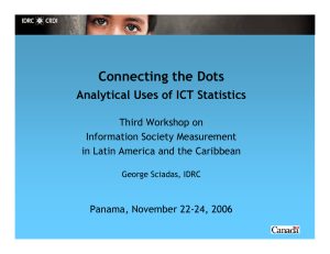 Connecting the Dots Analytical Uses of ICT Statistics
