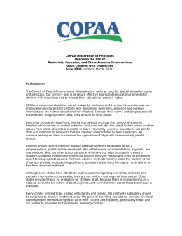 COPAA Declaration of Principles Opposing the Use of