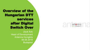 Overview of the Hungarian DTT services after Digital