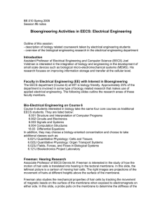 Bioengineering Activities in EECS: Electrical Engineering