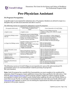 Pre-Physician Assistant