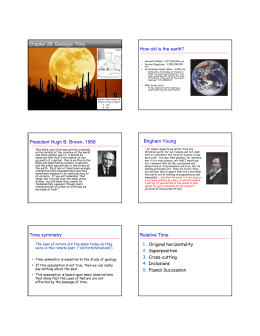 Chapter 28: Geologic Time How old is the earth?