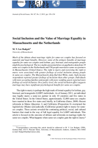 Social Inclusion and the Value of Marriage Equality in