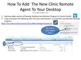 How To Add  The New Clinic Remote