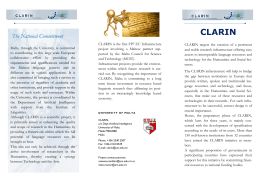 CLARIN  The National Commitment