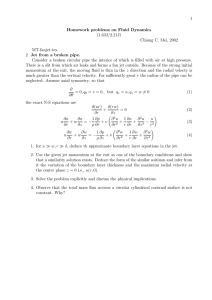1 Homework problems on Fluid Dynamics (1.63J/2.21J) Chiang C. Mei, 2002