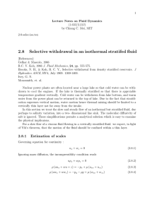 2.8 Selective withdrawal in an isothermal stratifed fluid