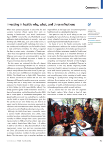 Comment Investing in health: why, what, and three refl ections