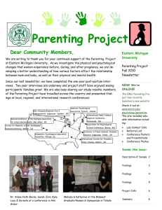 Parenting Project Dear Community Members, Eastern Michigan University