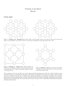 Problem of the Block Block5 Cross sums
