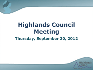 Highlands Council Meeting Thursday, September 20, 2012