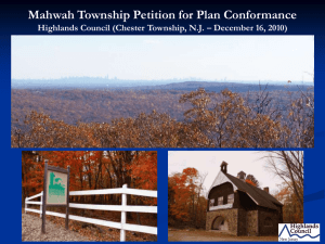 Mahwah Township Petition for Plan Conformance