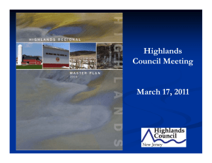 Highlands Council Meeting March 17, 2011