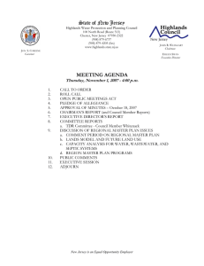 State of New Jersey MEETING AGENDA