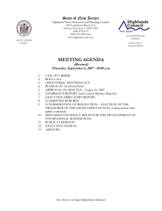 MEETING AGENDA State of New Jersey (Revised)