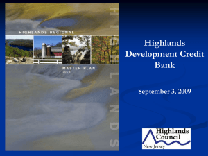 Highlands Development Credit Bank September 3, 2009