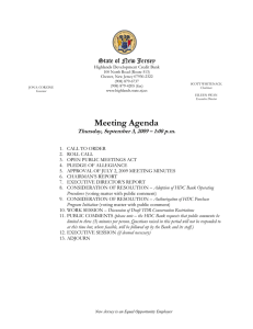 Meeting Agenda State of New Jersey