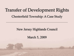 Transfer of Development Rights New Jersey Highlands Council March 5, 2009