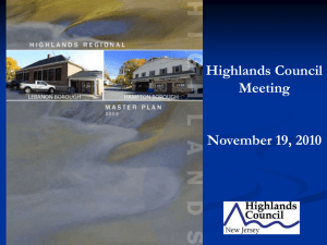 Highlands Council Meeting November 19, 2010