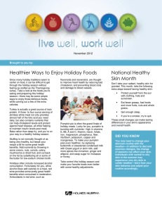 Healthier Ways to Enjoy Holiday Foods National Healthy Skin Month November 2012