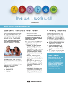 Ease Stress to Improve Heart Health A Healthy Valentine February 2012