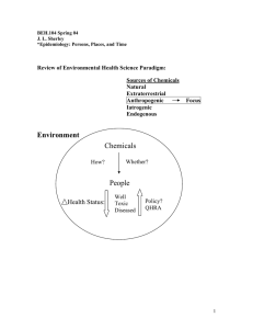 Review of Environmental Health Science Paradigm: Sources of Chemicals Natural Extraterrestrial