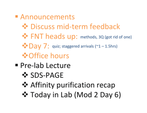 ƒ Announcements ™ Discuss mid‐term feedback ™ FNT heads up: ™Day 7: