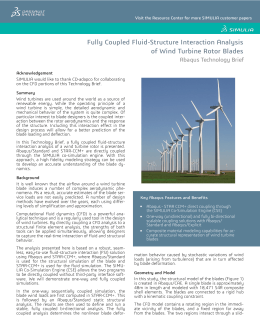 Fully Coupled Fluid-Structure Interaction Analysis of Wind Turbine Rotor Blades