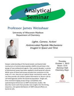 Analytical Seminar Professor Professor James Weisshaar