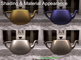 Shading & Material Appearance