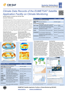 Climate Data Records of the EUMETSAT Satellite Deutscher Wetterdienst
