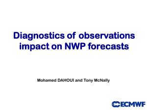 Diagnostics of  observations impact on NWP forecasts