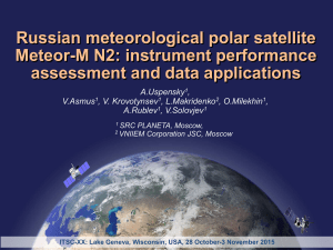 Russian meteorological polar satellite Meteor-M N2: instrument performance assessment and data applications