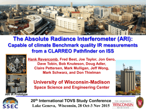 The Absolute Radiance Interferometer (ARI): from a CLARREO Pathfinder on ISS