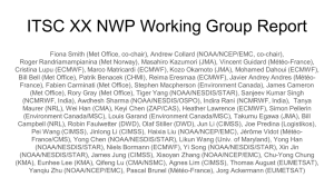ITSC XX NWP Working Group Report