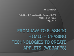Tom Whittaker Satellites & Education Conference XXVII Madison, WI  USA July, 2014