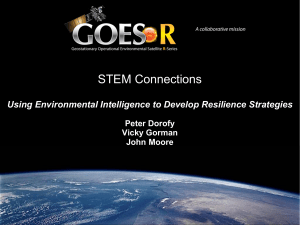 STEM Connections  Using Environmental Intelligence to Develop Resilience Strategies Peter Dorofy