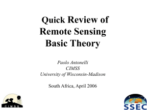 Review of Remote Sensing Basic Theory Quick
