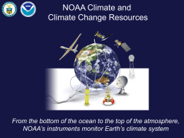 NOAA Climate and Climate Change Resources