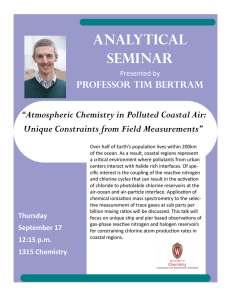 "Analytical Seminar ""Atmospheric Chemistry in Polluted Coastal Air: Unique Constraints from Field Measurements"""