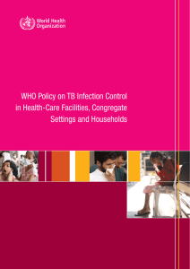 WHO Policy on TB Infection Control in Health-Care Facilities, Congregate